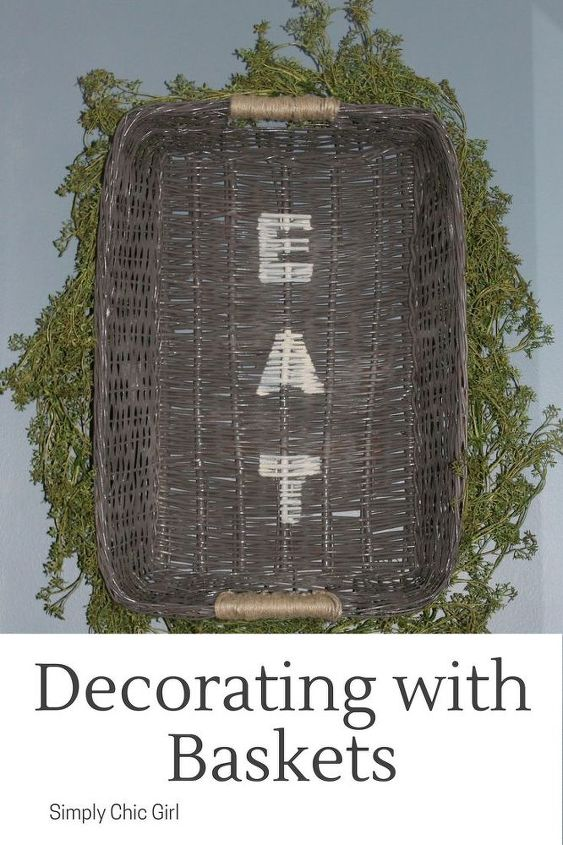 decorating with baskets, crafts, how to, painting, repurposing upcycling, wall decor
