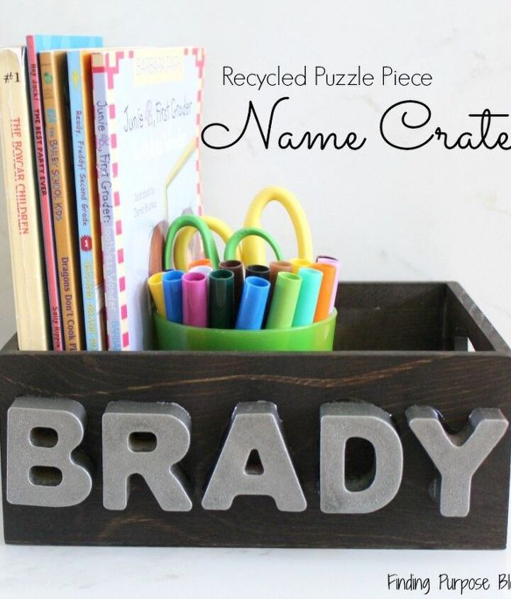 what i did with recycled puzzle pieces, crafts, how to, organizing, repurposing upcycling