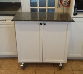 Kitchen Cabinet Turned Roll Away Cart Moveable Island, How To, Kitchen  Cabinets, Kitchen