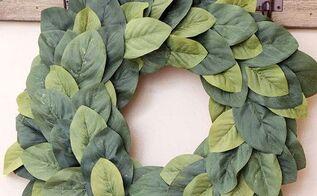 diy farmhouse magnolia wreath, crafts, how to, wreaths