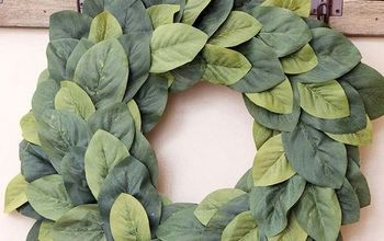 diy farmhouse magnolia wreath, crafts, how to, wreaths