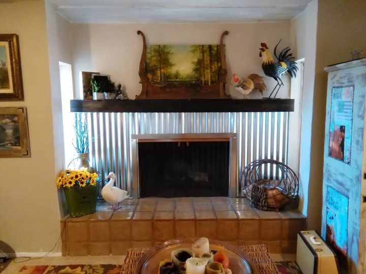 q should i distress my fireplace or leave it, fireplaces mantels, home decor, home decor dilemma