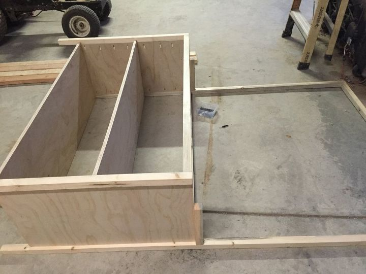 diy dual purpose bedroom entertainment center tv stand, bedroom ideas, entertainment rec rooms, how to, organizing, shelving ideas, woodworking projects