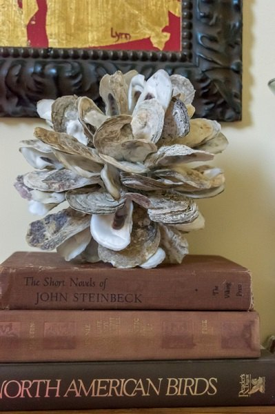 make a diy oyster shell cluster, crafts, how to, repurposing upcycling
