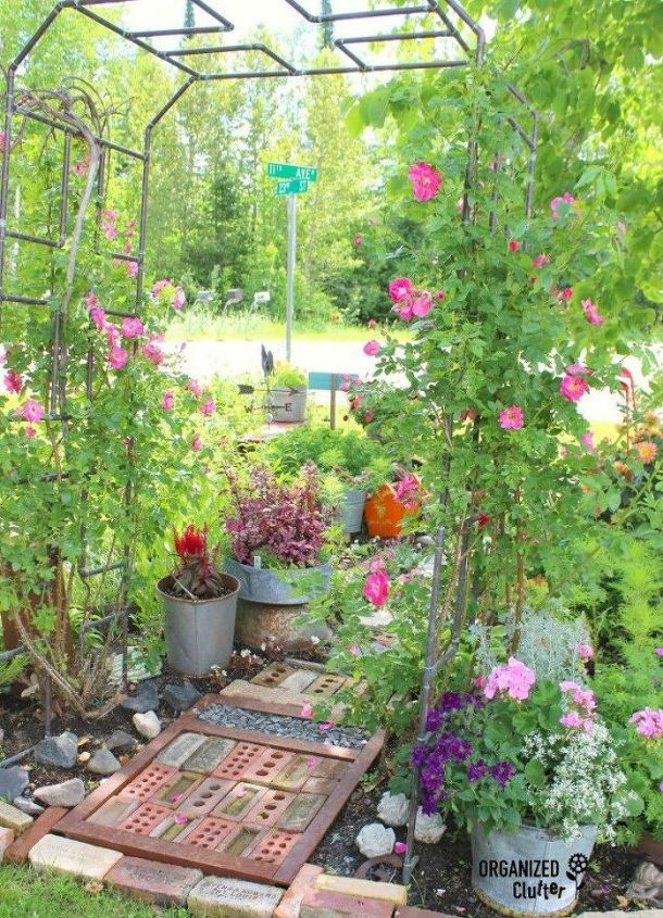s how to transform your backyard into a junk garden, Create a salvaged pathway with old bricks