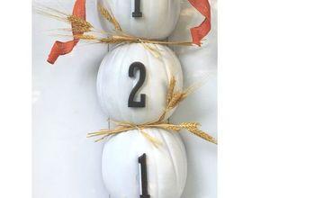 How to Make a Stackable Pumpkin Address Door Hanger