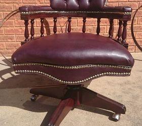 Restoration Of A Vintage Captains Chair, Reupholstoring, Reupholster, Captain  Chair Restored