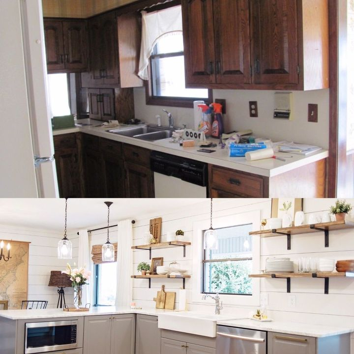 1970's Kitchen Gets a Modern Farmhouse Makeover! | Hometalk