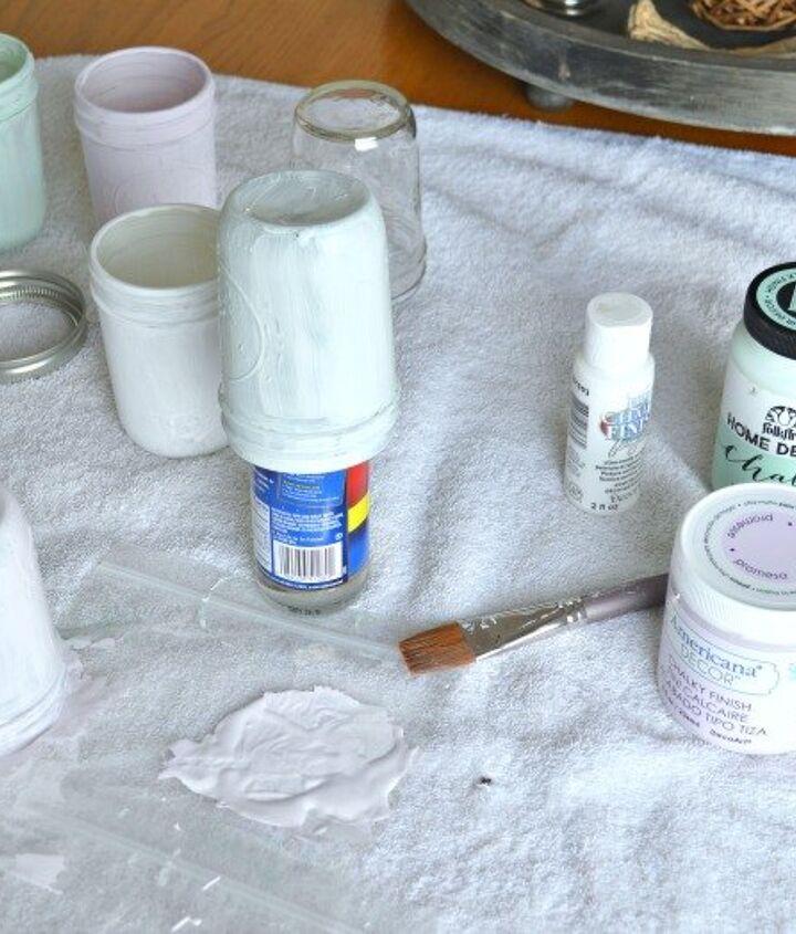chalk paint mason jar planters, chalk paint, container gardening, crafts, gardening, mason jars, painting, repurposing upcycling