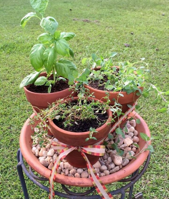 how to make a simple herb vignette, container gardening, gardening, how to