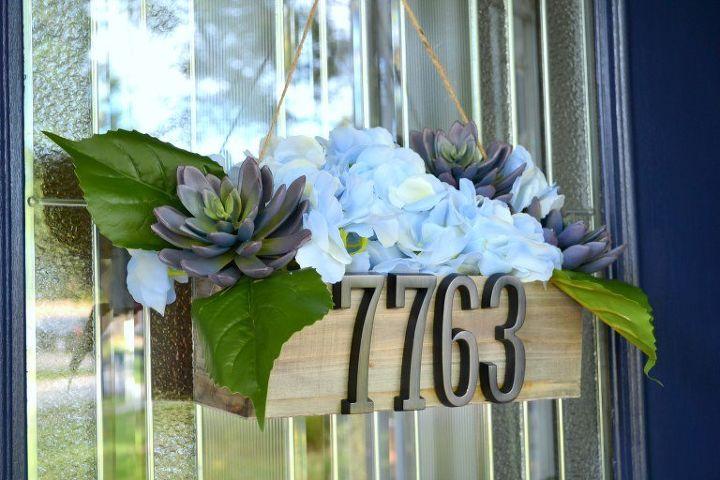 diy address planter door decor, container gardening, crafts, doors, gardening, how to