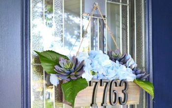 DIY Address Planter Door Decor