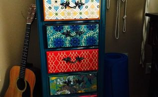 jewelry cabinet makeover, decoupage, painted furniture