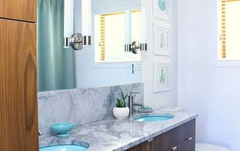 mid century modern bathroom reno, bathroom ideas, painting cabinets