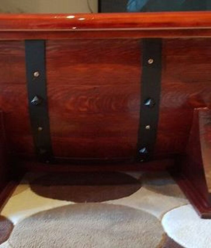 Wine Barrel Table Side View