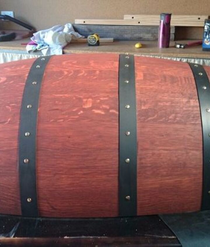 how to make a personalized wine barrel table, how to, painted furniture, repurposing upcycling, woodworking projects