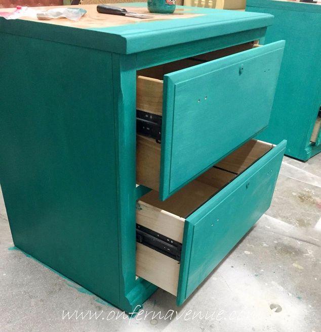 2 file cabinets barn door office desk doors home office how to