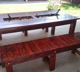 Party Trough Table, Crafts, How To, Outdoor Furniture, Outdoor Living,  Painted
