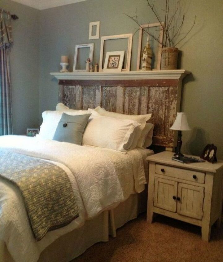 s 15 brilliant ways to upcycle old doors, doors, Upgrade your bed with a headboard