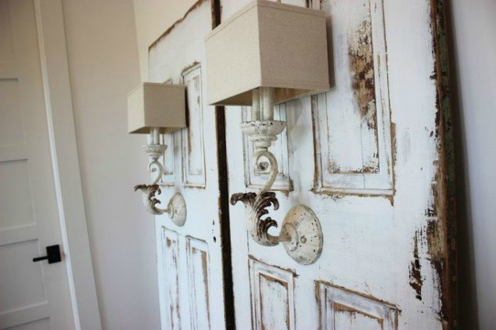 15 brilliant ways to upcycle old doors hometalk for Antique door decoration