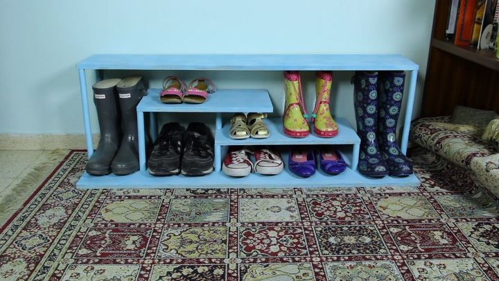 build a shoe rack, crafts, how to, organizing, shelving ideas, woodworking projects