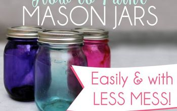 Paint Mason Jars Easily With Less Mess
