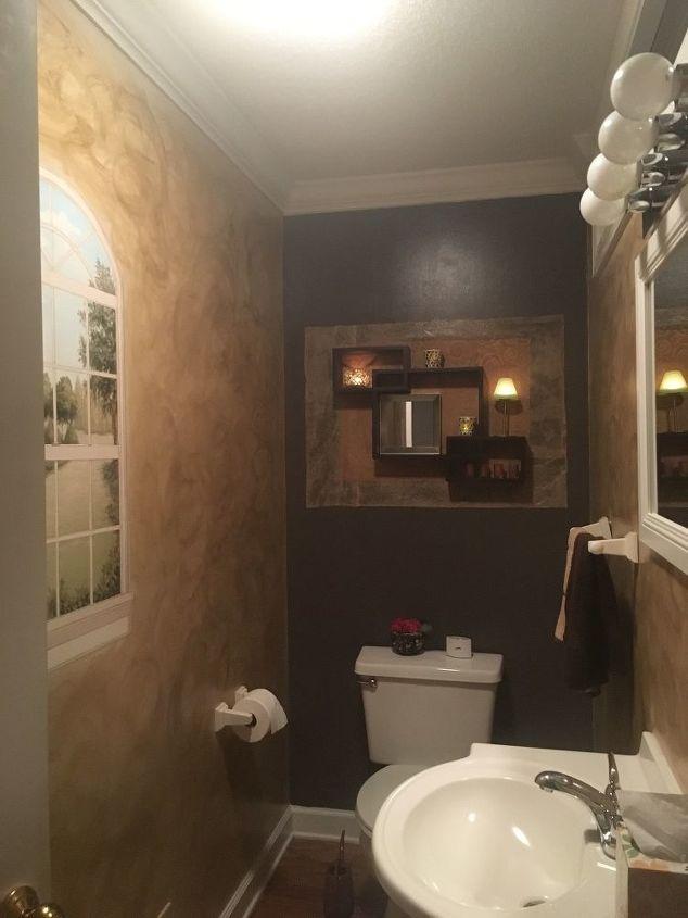 My Narrow White 1/2 Bath | Hometalk on 1 2 bathroom makeovers, 1 2 wall ideas, 2 piece bathroom ideas, 1 2 bathroom remodel, 1 4 bathroom ideas, 1 2 bathroom layout examples, 1 2 bathroom plans,