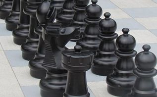 outdoor chess on any budget, concrete masonry, crafts, outdoor living, painting