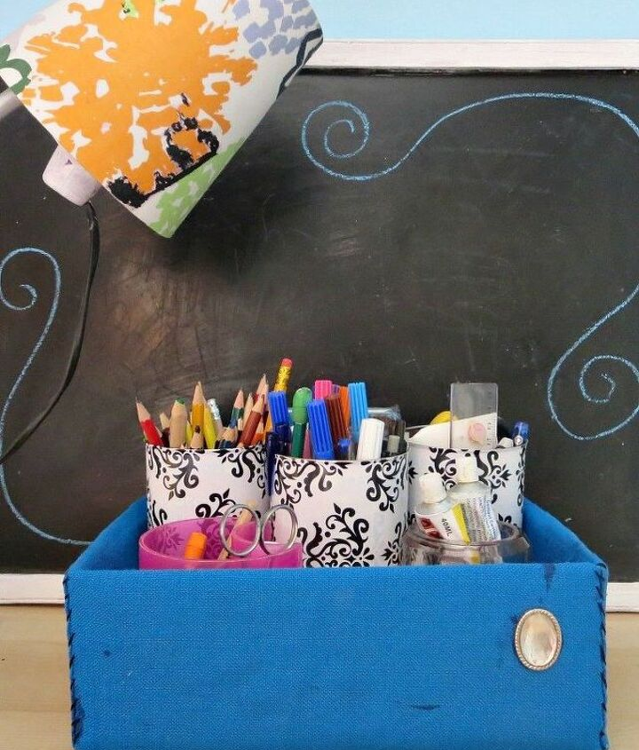how to organize a teen s desk to encourage tidy habits, bedroom ideas, decoupage, how to, organizing, repurposing upcycling, storage ideas