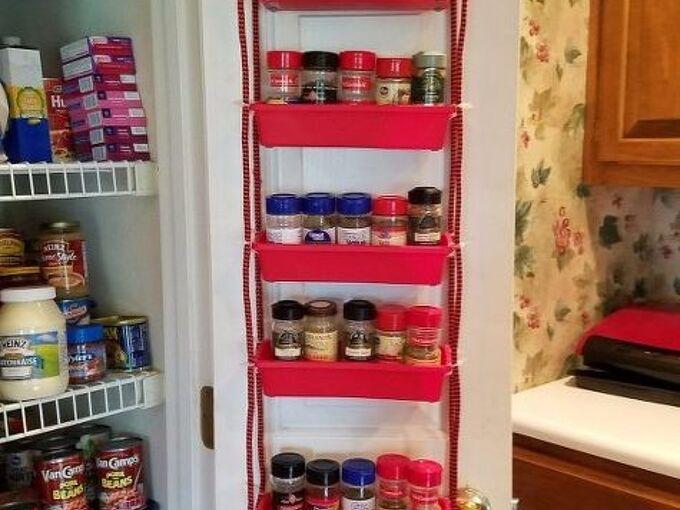 pantry door spice rack, closet, crafts, doors, how to, organizing, storage ideas