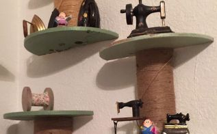 small cable spool to shelves, crafts, how to, repurposing upcycling, shelving ideas