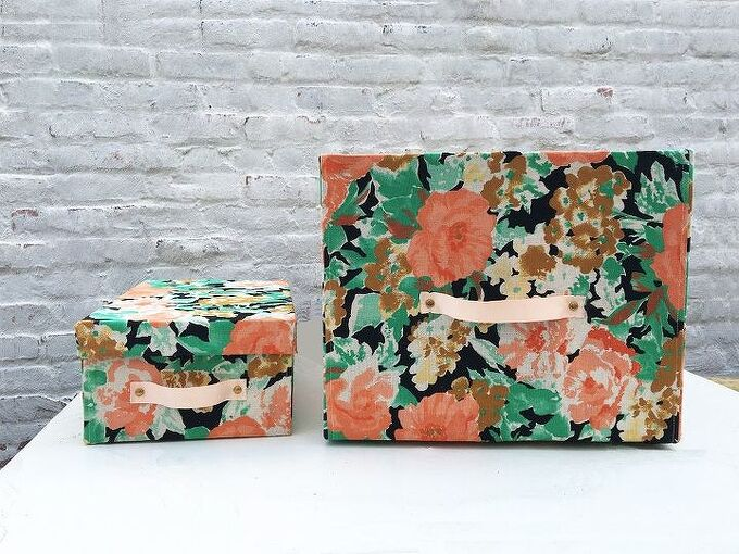 cardboard boxes turned storage bins, crafts, how to, organizing, repurposing upcycling, storage ideas
