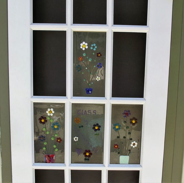 A closer look at the fused glass panels