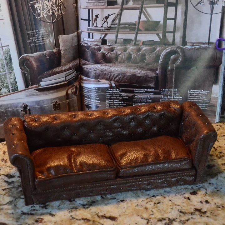 Miniature Dollhouse Leather Couch Tutorial Hometalk