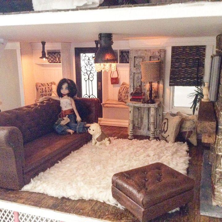 miniature dollhouse leather couch tutorial hometalk. Black Bedroom Furniture Sets. Home Design Ideas