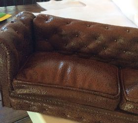 Miniature Dollhouse Leather Couch Tutorial, Crafts, How To, Reupholster