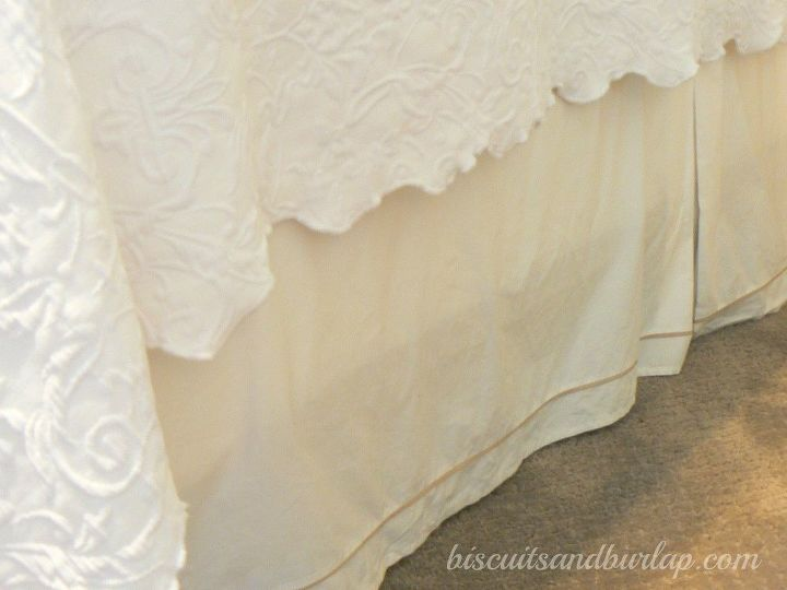 diy bedskirt is super simple cheap adjusts to bed height, bedroom ideas, crafts, how to