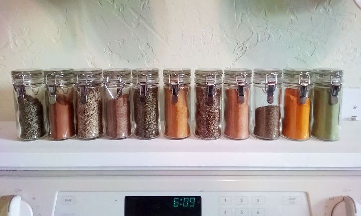 Diy Spice Rack For Stovetop Made From Scrap Wood Organizing Storage Ideas