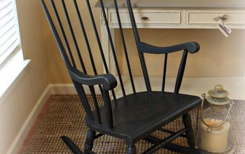 Rocking Chair With Damaged Finish Gets a New Look
