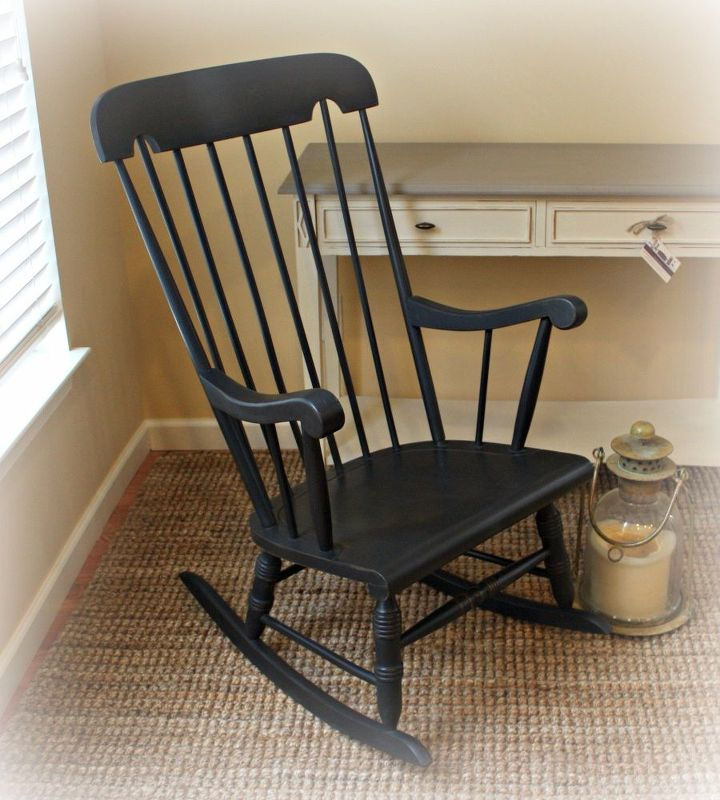 rocking chair with damaged finish gets a new look, home decor id, how to, painted furniture