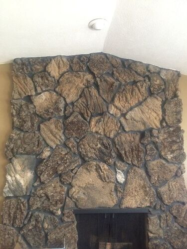rock fireplace mantel.  a wooden mantle onto my rock fireplace I would describe the as quite craggily lots of sharp edges and uneven surface If you ve done this project Mantel on Hometalk