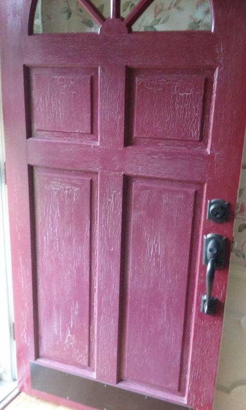 q chalk paint on this front door , chalk paint, doors, painting