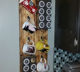 Hanging Cofee Mug And K Cup Storage, Crafts, How To, Organizing, Storage