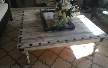 Coffee Table Made From Leftover Fence Boards