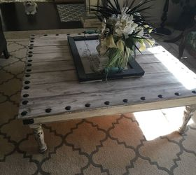Charming Coffee Table Made From Leftover Fence Boards, Fences, Painted Furniture Idea