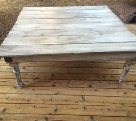 Coffee Table Made From Leftover Fence Boards, Fences, Painted Furniture Home Design Ideas