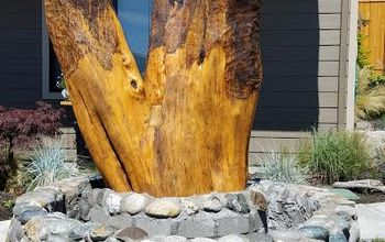 chain saw carved owls final post i hope you have enjoyed these posts, gardening, how to, landscape, raised garden beds