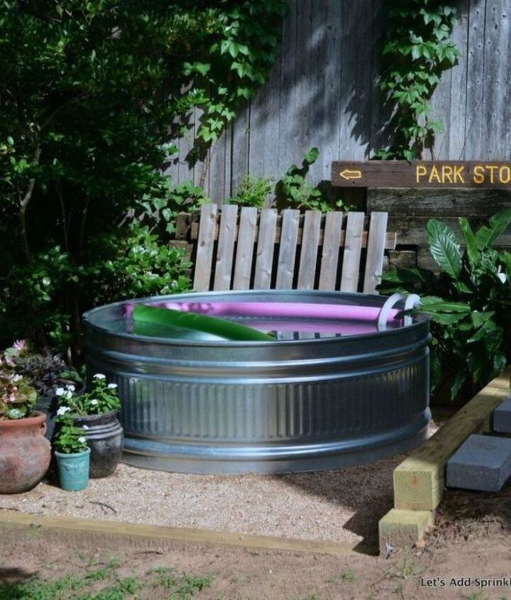 s you still have time to get the backyard oasis of your dreams, outdoor furniture, outdoor living, Cool off with your own stock tank pool