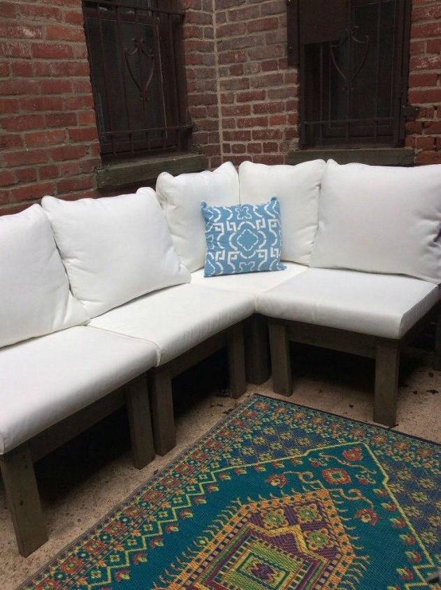 s you still have time to get the backyard oasis of your dreams, outdoor furniture, outdoor living, Build your own outdoor sectional
