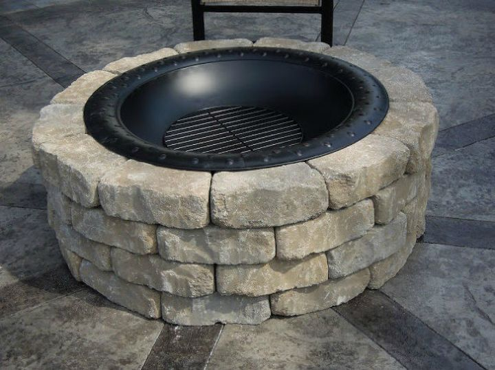 s you still have time to get the backyard oasis of your dreams, outdoor furniture, outdoor living, Create your own firepit for bonfires